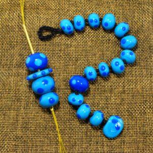 Ciondolo e Bracciale collezione Ometto, colore blu