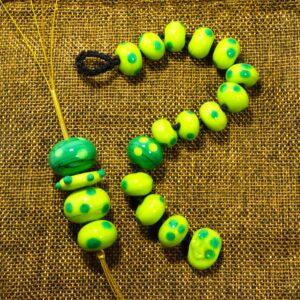 Ciondolo e Bracciale collezione Ometto, colore verde