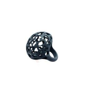 """Anello linea """"Orbit"""" realizzato in Nylon stampato in 3D."""