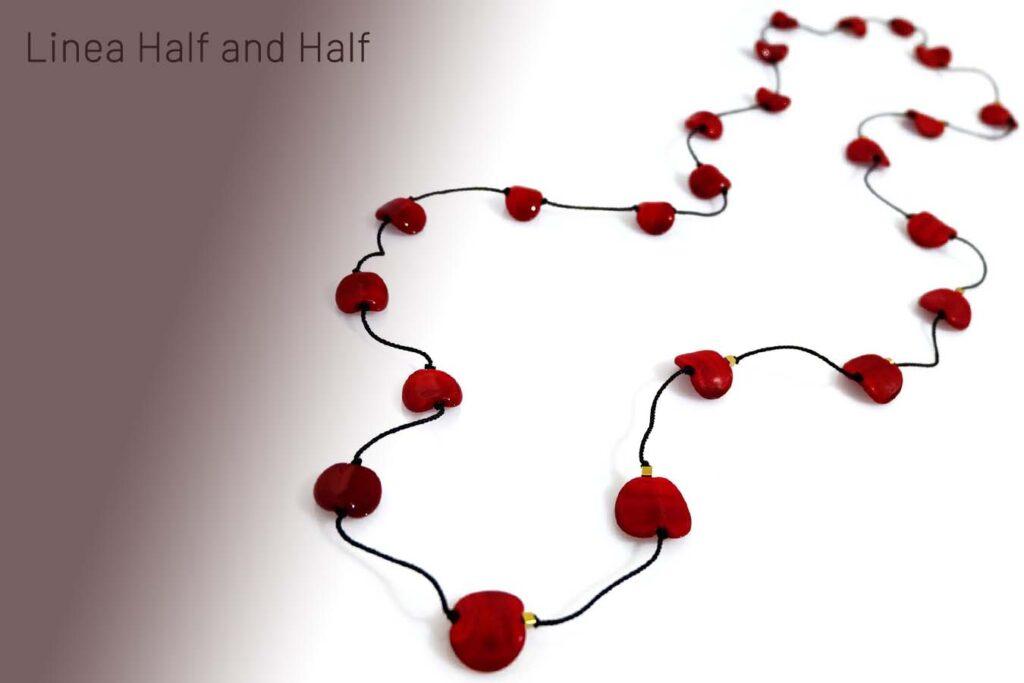 Half and half rosso ciliegia