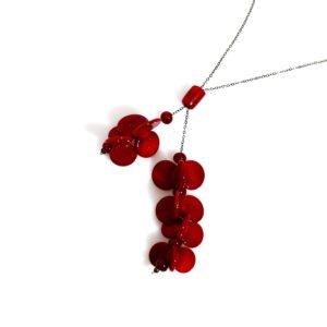 Ciondolo LEI, collana con ciondolo in vetro di Murano, Olimpia Aveta Design Gioielli contemporanei in vetro di Murano