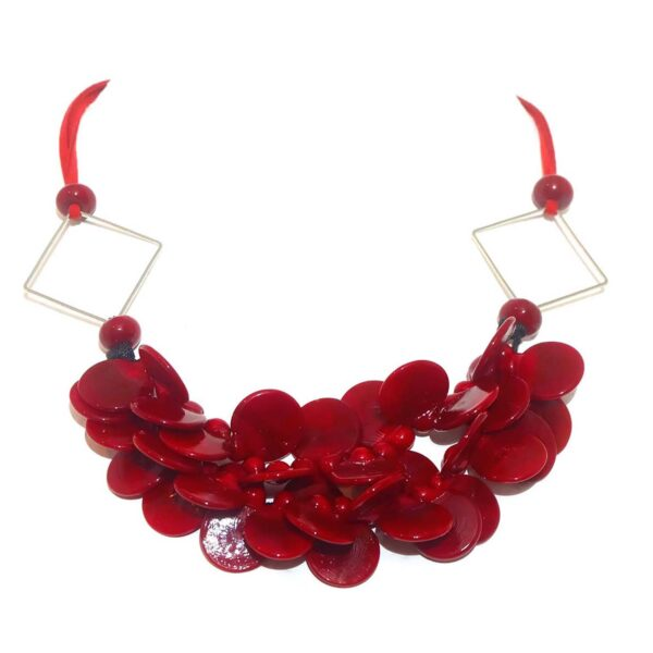 Collana LEI Charme, collana in vetro di Murano, Olimpia Aveta Design Gioielli contemporanei in vetro di Murano